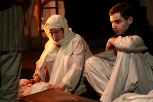 "Alyssa Marie as Kaushalya and Ben Williams-Lee as Manohar-Lal in ""A Tainted Dawn"". Photo by Joanna Woodrow."