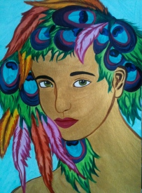 "© Alyssa Marie Warncke, 2014, ""Feather Girl"""
