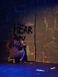 "Alyssa Marie as Street Artist in ""Within the Wall"" (2011). Photo by Steven Owens."